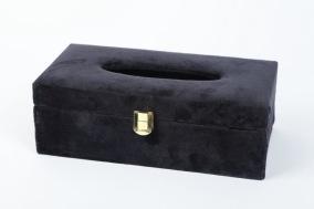 Servetthållare i sammet - Svartservetthållare