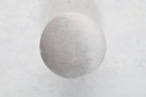 Beige Hängare i sammet D10cm - Stor Beige sammetsknopp