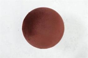 Bordeaux Hängare i sammet D10cm - Stor bordeaux sammetsknopp