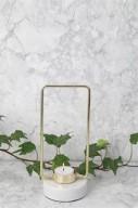 Ljusstake med marmorfot H21cm