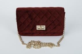 Handväska i sammet - Bourdeaux