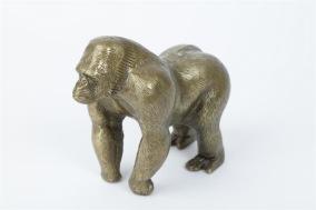 Chimpans 14x17cm - Guld chimpans