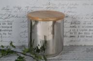 Burk med trälock 15x15cm