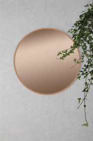 Rund spegel med rosaglas D40cm - Rosa