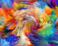 Poster Snurrande Färger 21x30cm