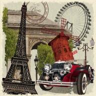 Poster Paris 40x50cm