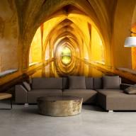 Fototapet - The Golden Corridor 3D