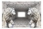Fototapet - Stone Lions 3D - B400xH280cm