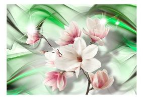 Fototapet - Magnolia - Green Wave - B150xH105cm