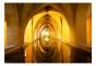 Fototapet - The Golden Corridor 3D - B400xH280cm