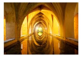 Fototapet - The Golden Corridor 3D - B150xH105cm