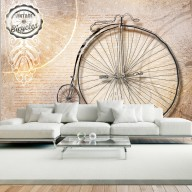 Fototapet - Vintage bicycles - sepia