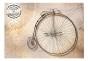 Fototapet - Vintage bicycles - sepia - B400xH280cm