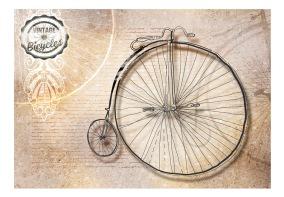Fototapet - Vintage bicycles - sepia - B150xH105cm