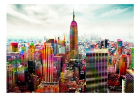 Fototapet - Colors of New York City - B150xH105cm