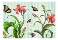 Fototapet - Vintage - butterflies