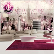 Fototapet - Pink New York
