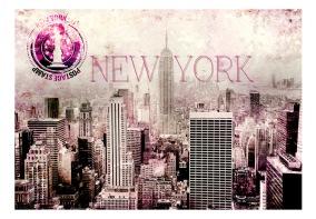 Fototapet - Pink New York - B150xH105cm