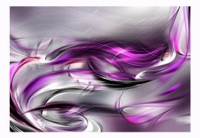 Fototapet - Pink swirls - B150xH105cm