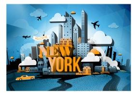 Fototapet - New York - welcome - B150xH105cm