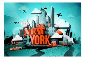 Fototapet - Welcome New York - B150xH105cm
