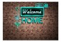 Fototapet - Welcome home - inscription - B400xH280cm