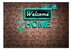 Fototapet - Welcome home - inscription - B150xH105cm