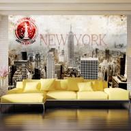 Fototapet - New York - POST AGE STAMP