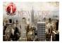 Fototapet - New York - POST AGE STAMP - B400xH280cm