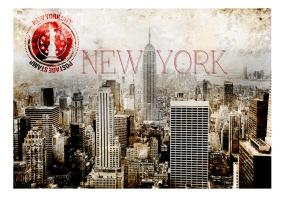 Fototapet - New York - POST AGE STAMP - B150xH105cm
