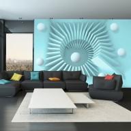 Fototapet - Blue maze