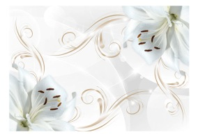 Fototapet - White dancers - 150x105cm