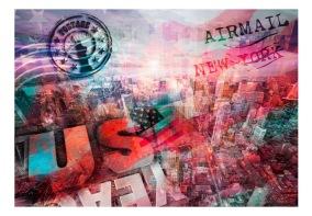 Fototapet - NYC - patriotic theme - 150x105cm