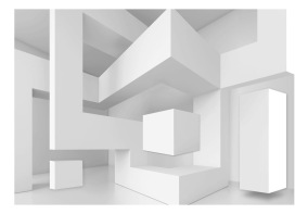 Fototapet - White geometry - 150x105cm