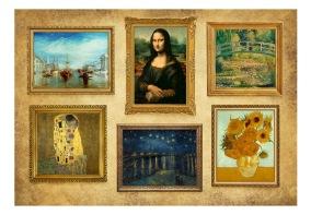 Fototapet - Beige wall of treasures - B150xH105cm