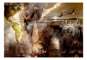 Fototapet - Symbols of Brooklyn - 150x105cm