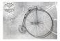 Fototapet - Vintage bicycles - black and white - 400x280cm