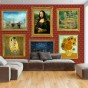Fototapet - Red wall of treasures