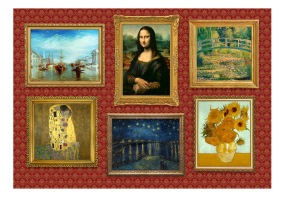 Fototapet - Red wall of treasures - 150x105cm