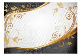 Fototapet - Gold twig - B150xH105cm