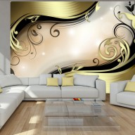 Fototapet - Wavy gold