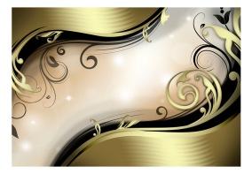 Fototapet - Wavy gold - B150xH105cm