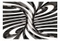 Fototapet - Black and white swirl - B400xH280cm