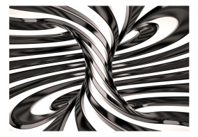 Fototapet - Black and white swirl - B150xH105cm