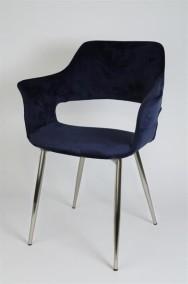 Marinblå Stol Flap - Marinblå med silverben