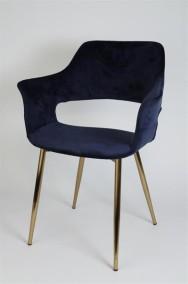 Marinblå Stol Flap - Marinblå med guldben