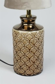 Grön Lampfot i porslin - Brun