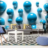 Fototapet - Blue Balls