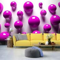 Fototapet - Purple Balls