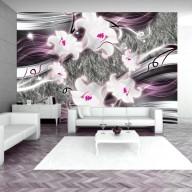 Fototapet - Dance of charmed  lilies